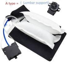 4 דרך לרכב כריות מותני חזור תמיכת גבוהה לחץ חשמלי פנאומטי כרית אוויר מושב עיסוי עבור 12 v פנים מושב סטיילינג