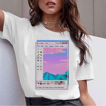 vaporwave aesthetic t shirt Graphic t-shirt women harajuku female femme 2019 tee shirt hop korean top tshirt summer 90s Casual perfume bottle watercolor hand t shirt women harajuku anime t shirt 90s korean style tshirt graphic aesthetic top camiseta mujer