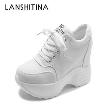 Women Platform Trainers Ankle Boots Autumn Mesh White Sneakers 10CM Heels Wedges Boots Breathable Height Increasing Boots Woman lsewilly women boots bohemia chinese nation style women fringe increasing heels bead short boots woman tassel ankle boots a002