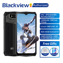 "Blackview BV9100 Android 9.0 Telefone 6.3 ""Tela do Smartphone Robusto IP68 MT6765 Octa Núcleo 4GB + 64GB 13000mAh Bateria 30W Carga Rápida(China)"