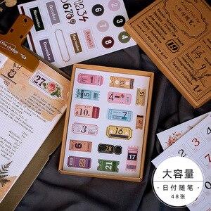 Image 2 - 10 set/lot Kawaii Stationery Stickers Jinshenianhua series Decorative Mobile Stickers Scrapbooking DIY Craft Stickers