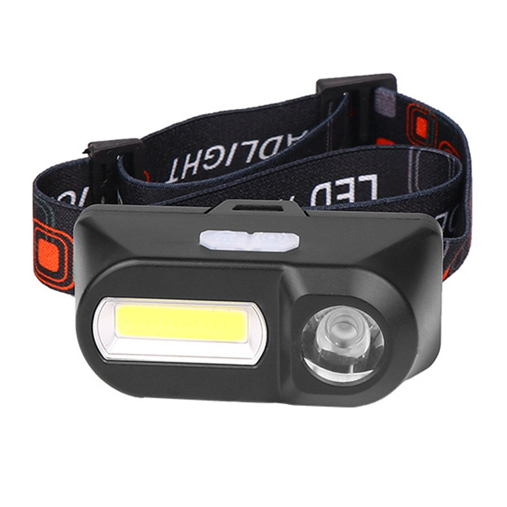 Купить с кэшбэком USB charging headlight Multifunctional COB outdoor Emergency head-mounted flashlight ABS 6 lighting modes Portable illumination