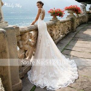 Image 3 - Adoly メイロマンチックなスクープネックタンクスリーブマーメイドウェディングドレス 2020 高級アップリケ裁判所の列車ヴィンテージ花嫁プラスサイズ