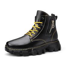 Мужские тактические ботинки из натуральной кожи коричневые водонепроницаемые