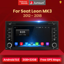 Junsun Android 9.0 DSP 2G + 32G pour Seat Leon MK3 2012 2013 2014 2015 2016-2018 voiture lecteur multimédia Radio GPS DVD carplay FM RDS(China)