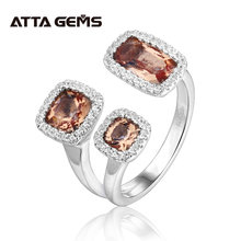 Серебряное кольцо султанит с зултанитом оригинальный дизайн