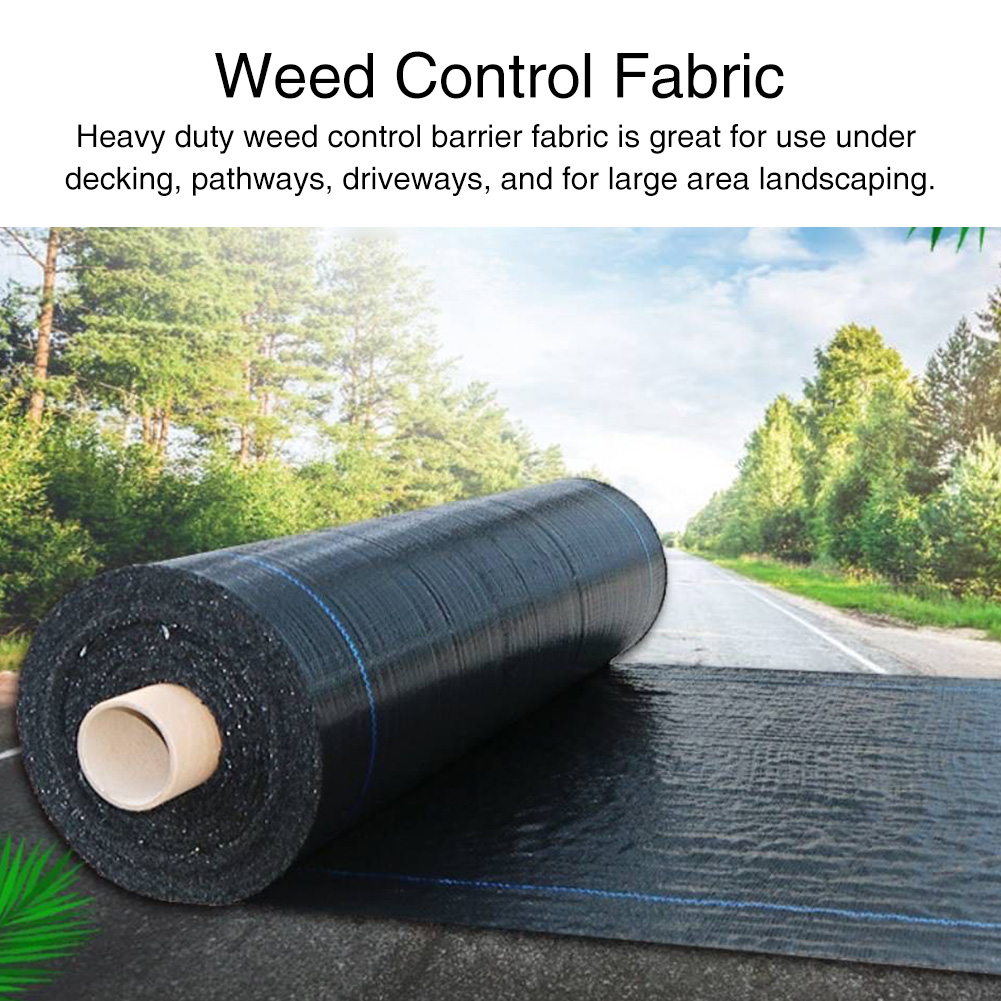 Landscape Outdoor Garden Woven Barrier PE Membrane Driveway Greenhouse Agriculture Heavy Duty Weed Control Fabric Ground Cover
