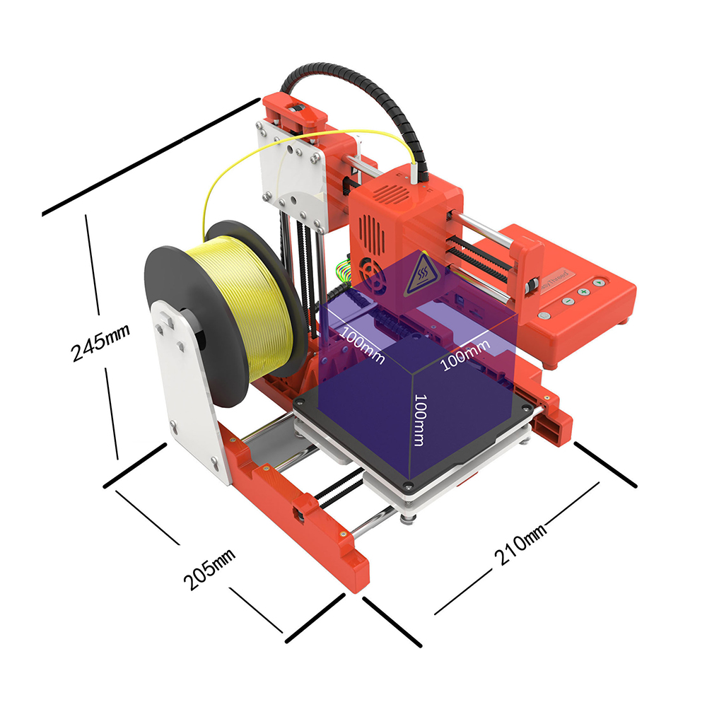 FDBRO 2020 Mini Portable Kids 3D DIY Printer for Household Education Gift Students Printing Support One