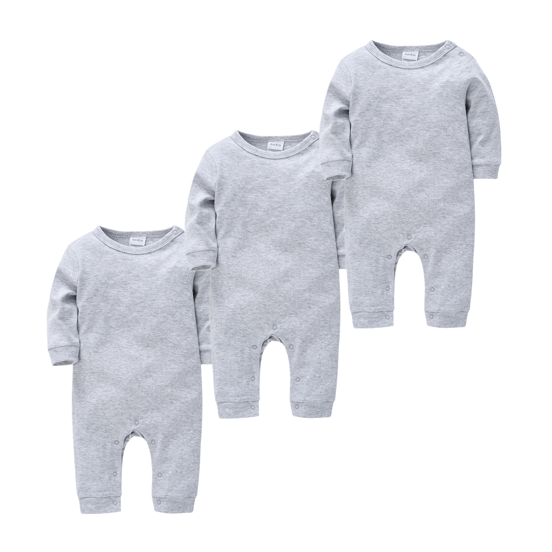 0-18M Kavkas Newborn Baby Sleepers Solid Cotton Unisex Infant Boys Rompers Onesies White Black Toddler Girls Overall Roupas Bebe