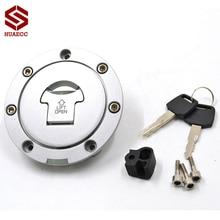 אופנוע טנק גז רגיל נעילת דלק כובע מפתחות להונדה CB600F הורנט CBF600 CB400 CBR1100XX CB750 CBR600 RR CB1000