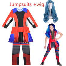 Hot selling Descendants 3 Evie anime Cosplay Costume  Jumpsuits Halloween Carnival Costume for Kids