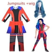 Vente chaude Descendants 3 Evie anime Cosplay costumes combinaisons Halloween carnaval Costume pour les enfants