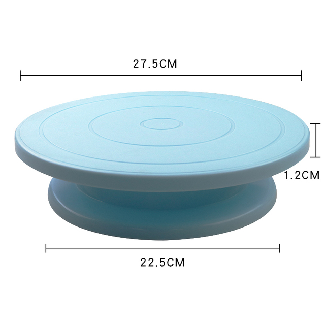 Plastic Cake Plate Turntable Rotating Anti-skid Round Cake Stand Cake Decorating Rotary Table Kitchen DIY Pan Baking Tool