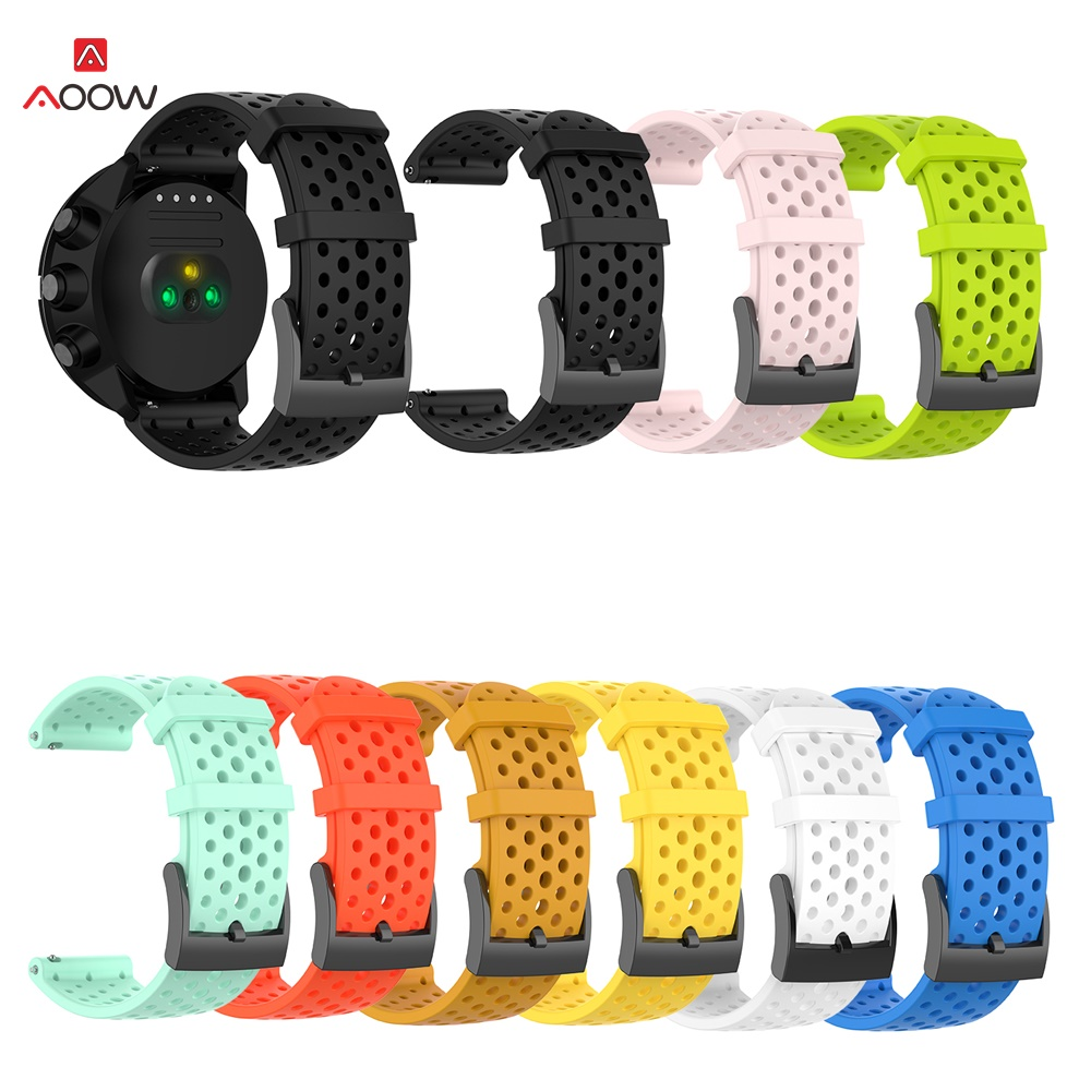AOOW Smart Watch Silicone Replacement Band Strap For Suunto 9/9 Baro Suunto Spartan Sport Watch Bracelet Strap Watch Wrist Belt