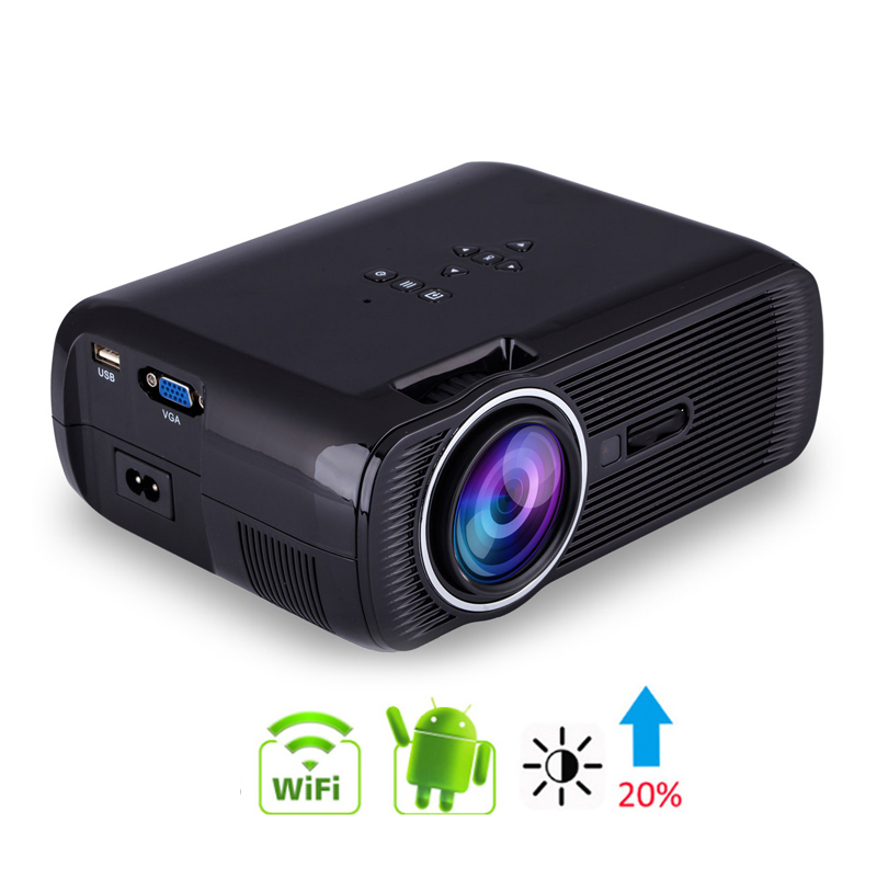 Android 4,4 Tragbare Projektor Unterstützung 1080P HDMI AV VGA USB SD <font><b>TV</b></font> Multimedia Home Theater Spiele Familie Film <font><b>Proyector</b></font> image