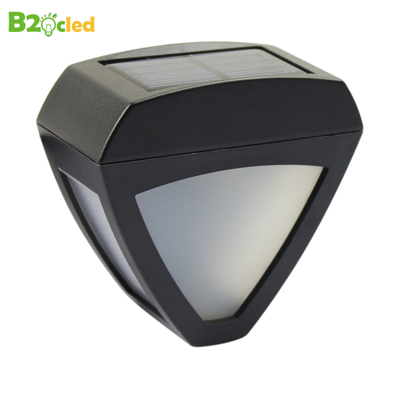 B2OCLED LED Waterproof Solar Lights Automatic Induction Solar Lamp Outdoor Corridor Garden Wall Porch Triangle Sunlight Lighting in Solar Lamps from Lights Lighting