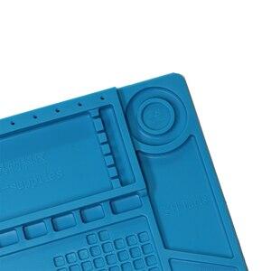 Image 4 - Almohadilla de soldadura de silicona con aislamiento térmico, Plataforma de mantenimiento de escritorio para Estación de reparación con s 160 magnético s 170
