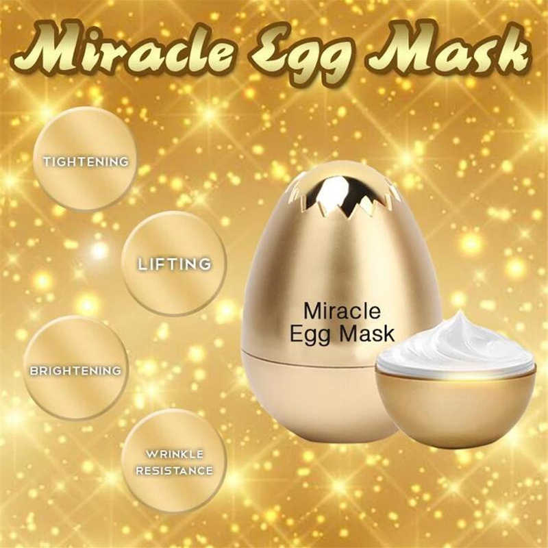 Miracle Egg Mask Anti Aging Facial Peel Off Mask Remove Wrinkle Moisturizing Cream Yeast Egg Shell Skin Care Face Mask