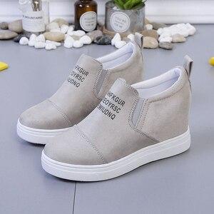 Image 4 - AARDIMI kadın mokasen Creepers Platform ayakkabılar kadın rahat ayakkabılar kadın takozlar Sneakers kadınlar üzerinde kayma düz ayakkabı sonbahar