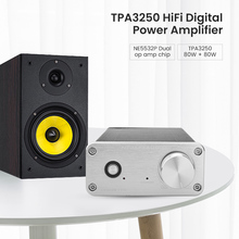 Fx audio FX502S PRO Audio cyfrowy wzmacniacz wysokiej mocy HIFI 2.0 Stereo domowy profesjonalny wzmacniacz TPA3250 NE5532 80W * 2 wzmacniacze