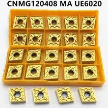 10PCS CNMG120408 UE6020 External turning tool Carbide insert cutting lathe CNC tool lathe tool CNMG120408 стоимость