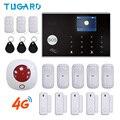 Переключаемая беспроводная домашняя охранная система Tuya на 11 языков  3G и 4G  Wi-Fi сигнализация  433 МГц  RFID карта  устройство для снятия руки  при...