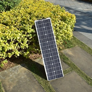 Image 2 - 2*50W (100W)  12V חצי גמיש גמיש יחיד פנל סולארי קרוון ואן משודרג 10A שמש תשלום בקר לרכב RV ימי