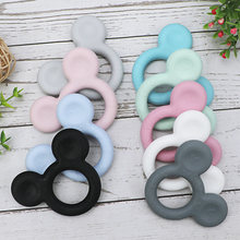 1pc Mickey silicone Teether Food Grade Cartoon Teether Nursing Gift BPA Free DIY Baby Teething Teether Toy Accessories Ring