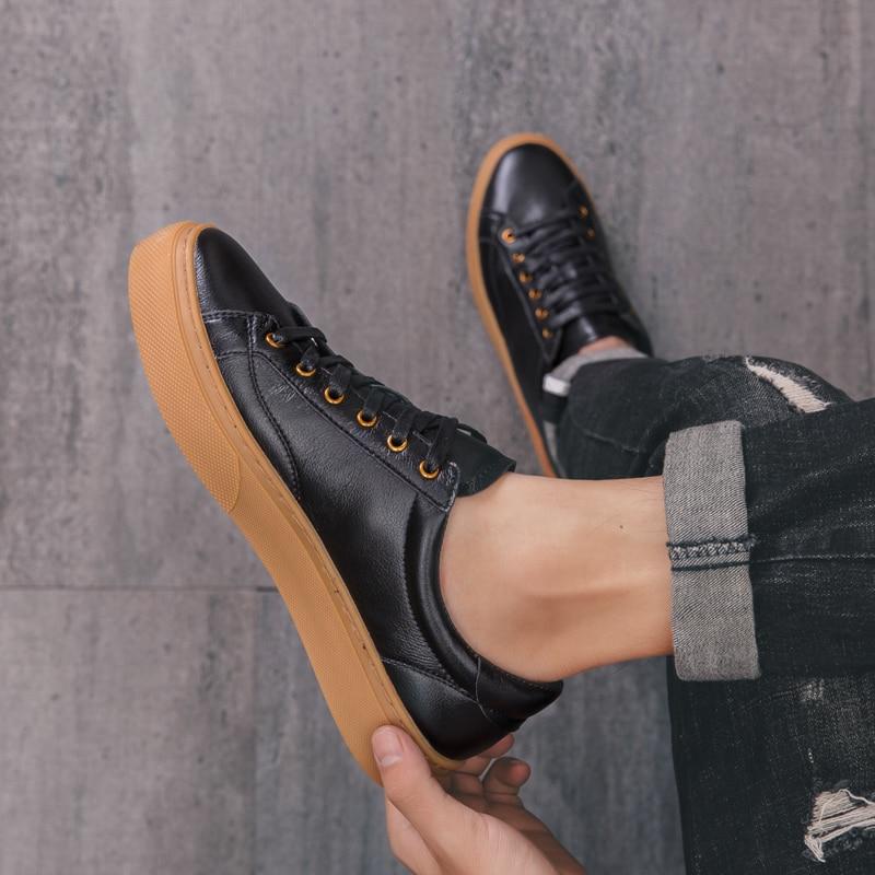 Sapatos masculinos de couro genuíno 2021 outono