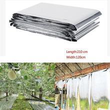 210x120 см сельскохозяйственная светоотражающая пленка двухсторонняя отражающая майларовая пленка теплицы фруктовые деревья виноград повышающая температура