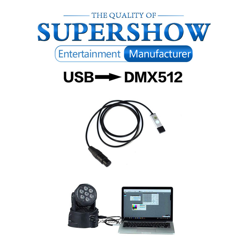 H7f6f581bf9554de28d4d463386ce6eb1n - USB to DMX512 Interface Adapter LED DMX512 Computer PC Stage Lighting Remote Control Cable Freestyler Download