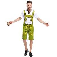 Lederhosen Germen Oktoberfest Costume for Men Beer Festival Men's Triditional Bavarian Costumes Plus Size