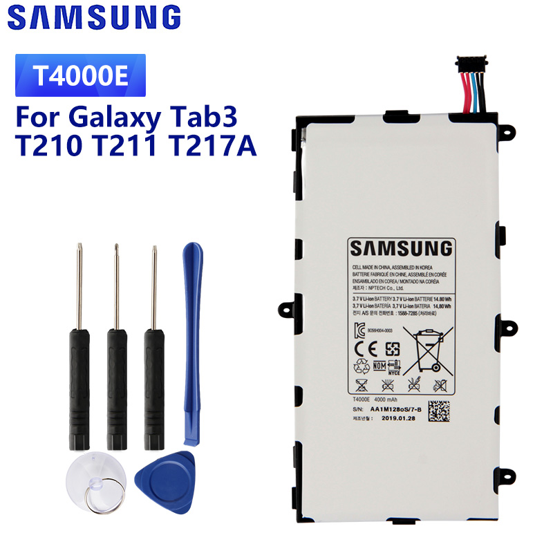 SAMSUNG Original Replacement Battery <font><b>T4000E</b></font> T4000C T4000U For Samsung GALAXY Tab3 7.0 T210 T211 T217A T2105 Battery 4000mAh image