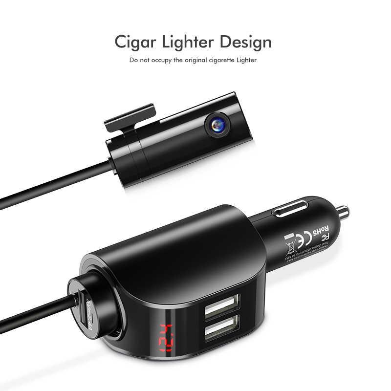 Floveme cargador de coche Dual USB para teléfono pantalla Digital encendedor de cigarrillos cargador rápido adaptador de carga para teléfono Xiaomi carga