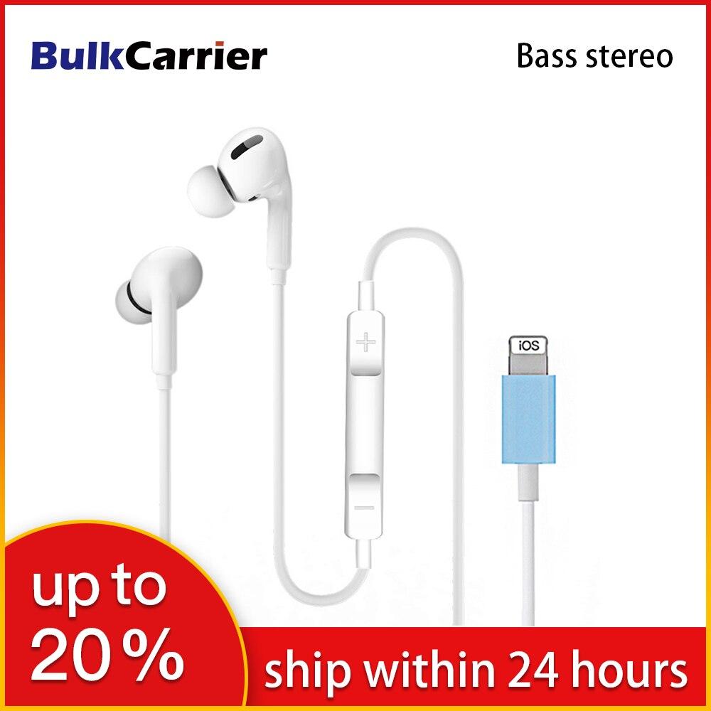 Bluetooth наушники, басовые стерео наушники для Iphone 7, игровые наушники, проводная гарнитура с микрофоном для Iphone SE 2020 10 11 Pro Xs Max|Наушники и гарнитуры|   | АлиЭкспресс