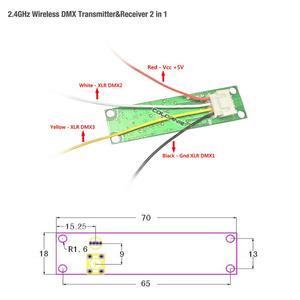 Image 3 - קידום!!! חנויות מפעל 5 יח\חבילה אלחוטי DMX 512 בקר משדר ומקלט 2 ב 1 PCB מודול עבור DMX שלב הדלקת