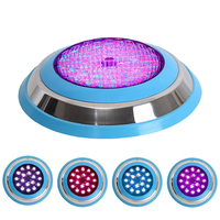 54W Par56 Stainless Ring 18 LED Swimming Pool Lamp IP68 Submersible Underwater Light RGB Multi color AC12V Fountain Ggb Lamp