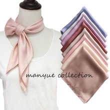 Hot Sell Women's Small Silk Square Scarf Neck Scarves for La