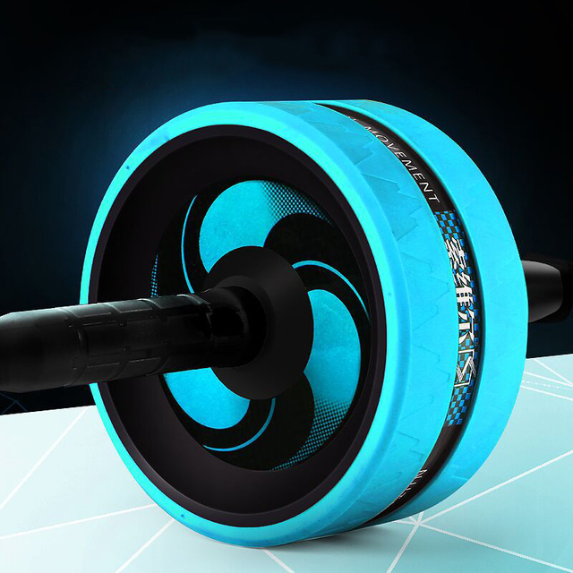 Ab Roller Exercise Fitness Ab Wheel Muscle Training Double-wheel Apparatus Press Roll Abdominal Muscle Equipment 4