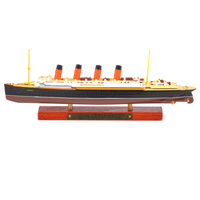 Cheap Kid Toys 1/1250 Scale Diecast RMS Lusitania Steamship Display Cruise Ship Vehicle Model Toy for Collection Gift