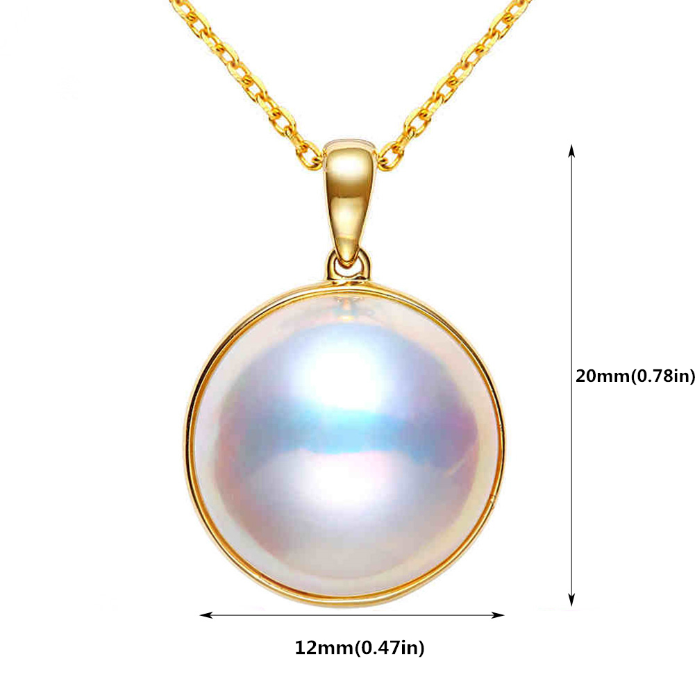 Ladies Luxury Handpicked AAA Freshwater Cultured Single Pearl Pendant Necklaces for Women Wedding Gift Jewelry 10