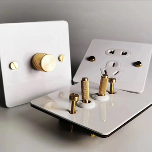 Image 2 - White color Dimmer switch and Gold color Metal knob and can work with LED lamp