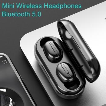 TWS 5.0 Mini Wireless Headphones Sport Waterproof Bluetooth Earphone 8D Stereo Sound Earphones HD Phone Call Earbuds