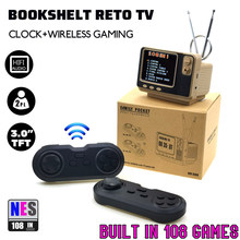 Mini Retro TV Game Console Handheld Video Game Console Digital Watch Built-in 108 Different Games For NES AV Out GV300