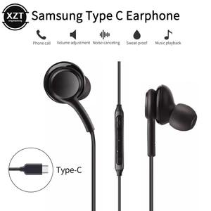 Проводные наушники Usb Type C для Samsung Galaxy Note S9 S8 S10 Plus S20, наушники-вкладыши с шумоподавлением, гарнитура с микрофоном