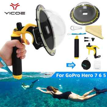 Go Pro Dome Port Cover Lens Hood For GoPro Hero 7/6/5/4/3 3+ Waterproof Case Housing Trigger Grip Dome Photography Accessories - DISCOUNT ITEM  21% OFF All Category