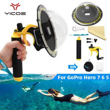 GoPro Hero 9/7/6/5/4/3 Gopro Dome port protection cover hood waterproof cover shell trigger handle dome photography accessories