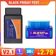 OBD 2 Super Mini ELM327 Elm-327 Bluetooth OBD2 V2.1 считыватель кодов Автомобильный сканер elm 327 Тестер адаптер диагностический инструмент для Android