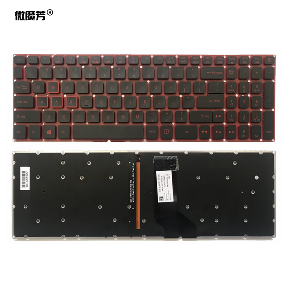 US Laptop Keyboard AN515-51  For Acer Nitro 5 AN515 AN515-52 AN515-53 Notebook Keyboard Black With Backlit