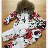 Baby girl clothes Thicker Warm brand coat children Snow Wear Print outerwear Park for girls winter Down Jacket for girls Y1758